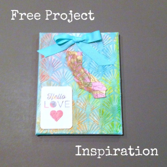 Free Mixed-Media Project Inspiration: California Love Canvas from SarahDonawerth.com