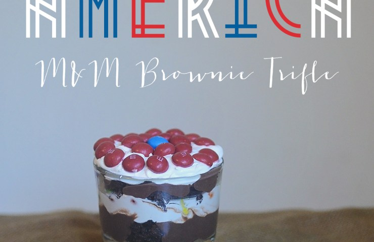 Captain America M&M's Brownie Trifle