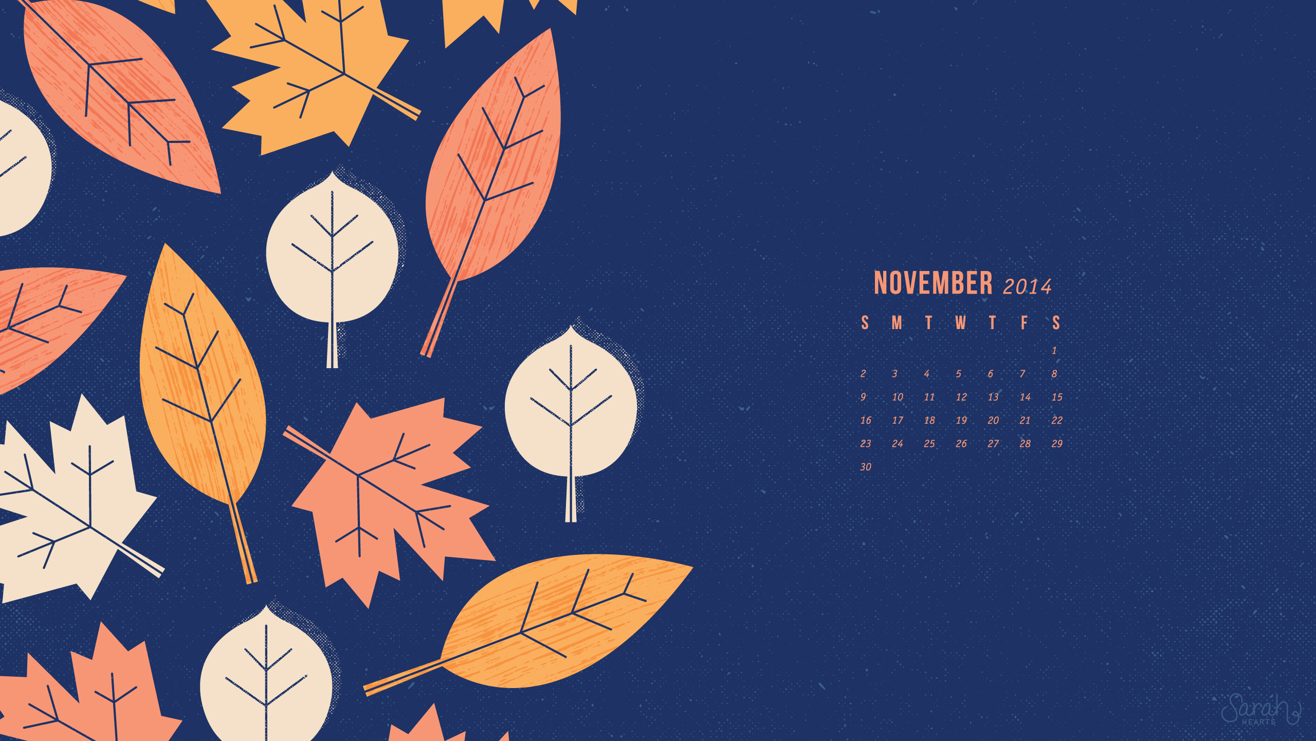 November Fall Wallpaper November 2014 Calendar Wallpapers Sarah Hearts