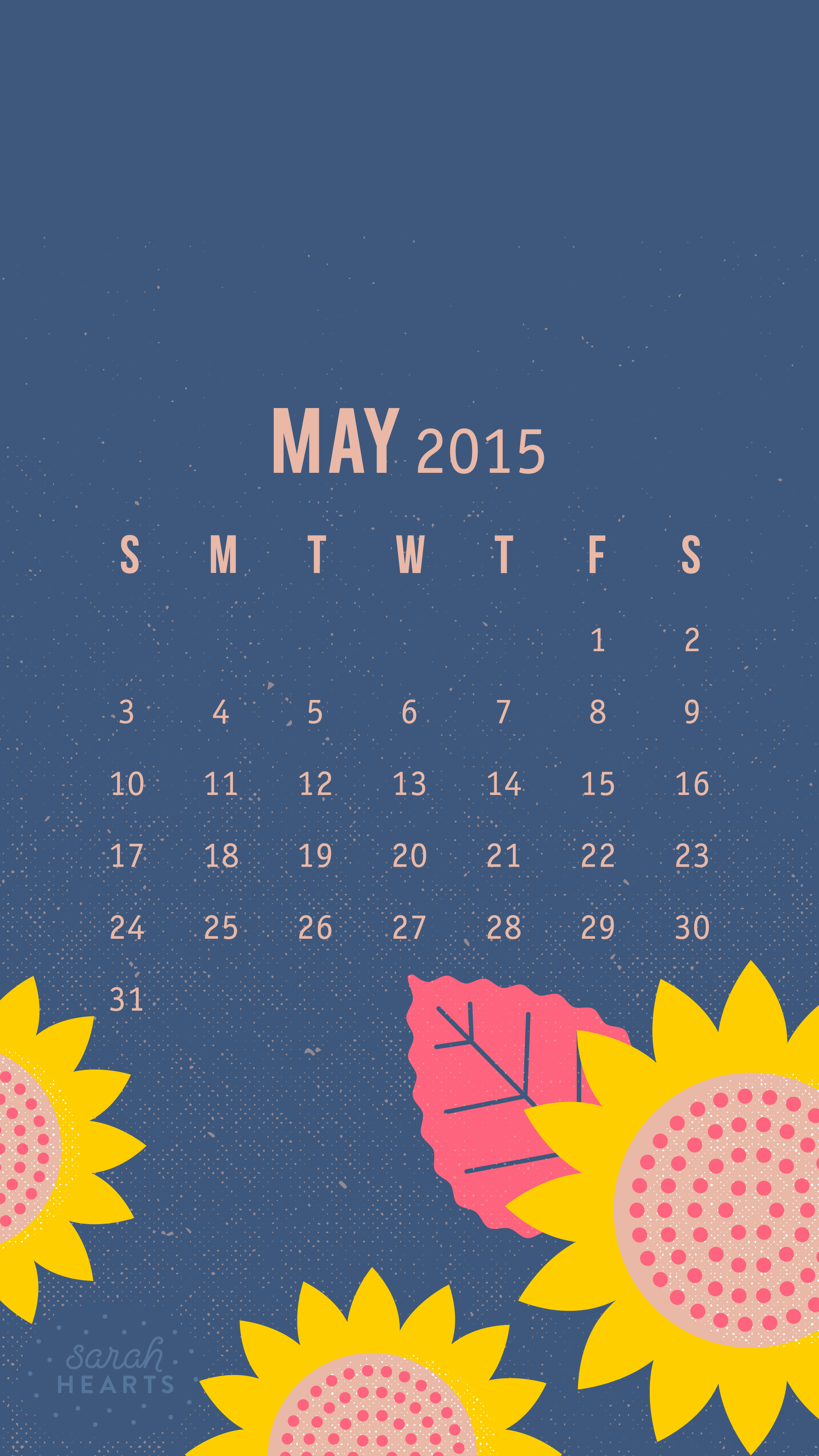 Cute Brand Wallpapers May 2015 Calendar Wallpaper Sarah Hearts