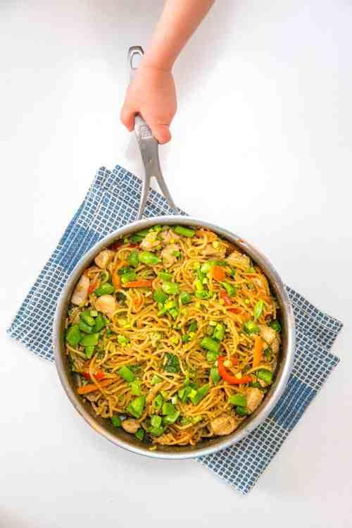 Medium Of Noodles In The Pot