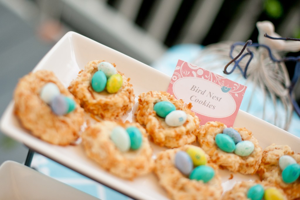 Bird Nest Cookies are the perfect party treat or Easter dessert! Sarah Sofia Productions