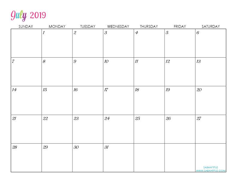 free editable calendars