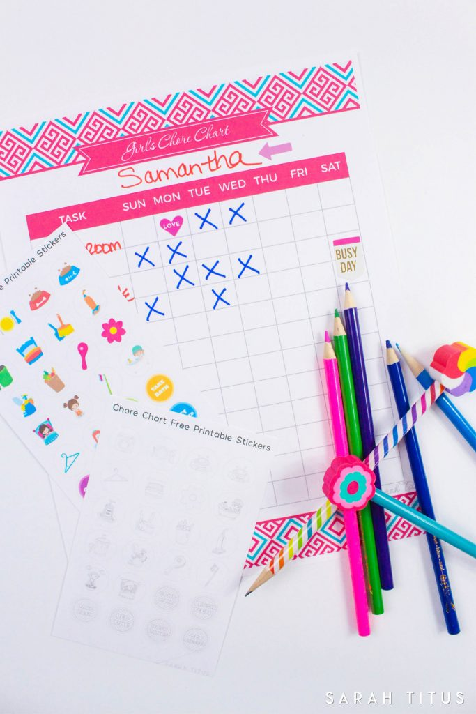 Free Printable Chore Chart Stickers - Sarah Titus