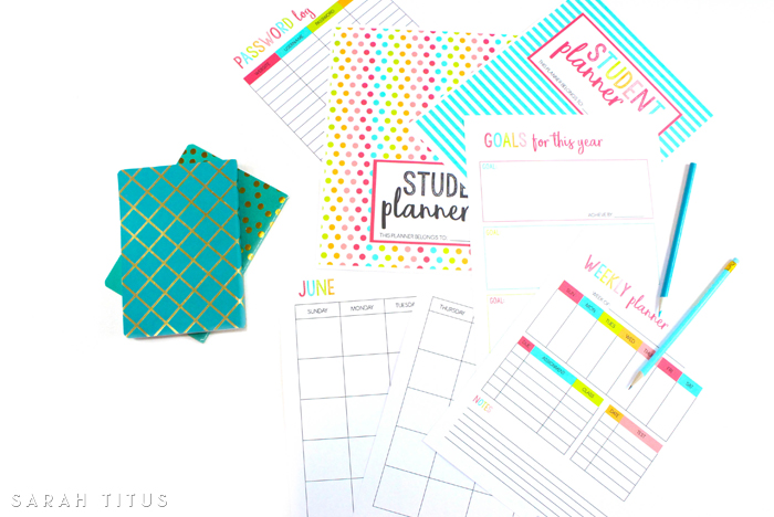 Free Printable Student Planner {46 pages} - Sarah Titus