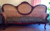 Sofa- Victorian Style Couch Love Seat