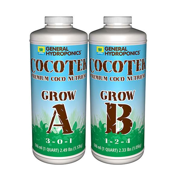 General Hydroponics CocoTek Grow A  B - Saratoga Organics