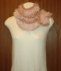 SarongsEtc.com - Hand-Knit Fun Fur and Glitter Eyelash ...