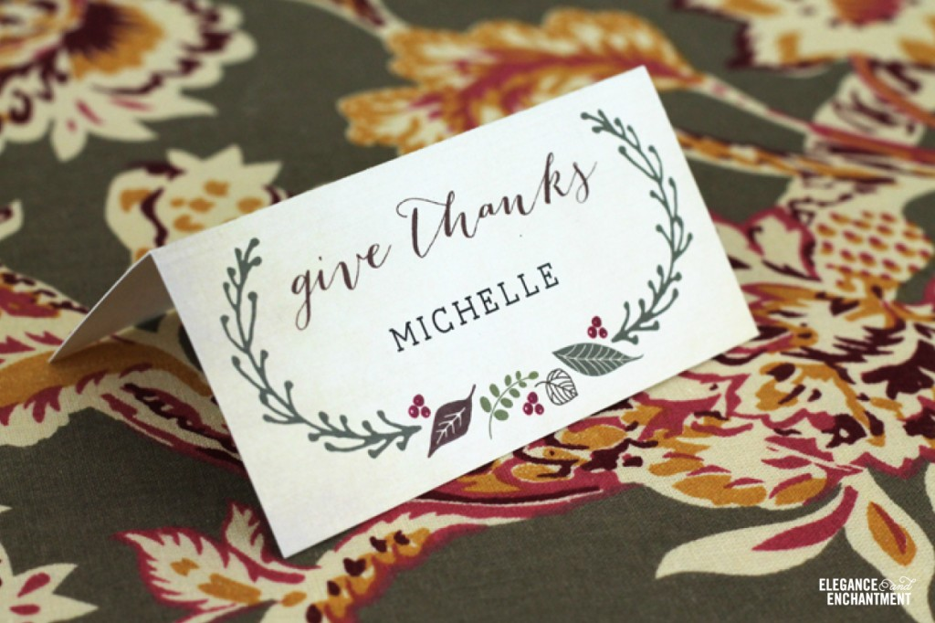 20 Free Thanksgiving Printables you must have - The Sassaby Party Co