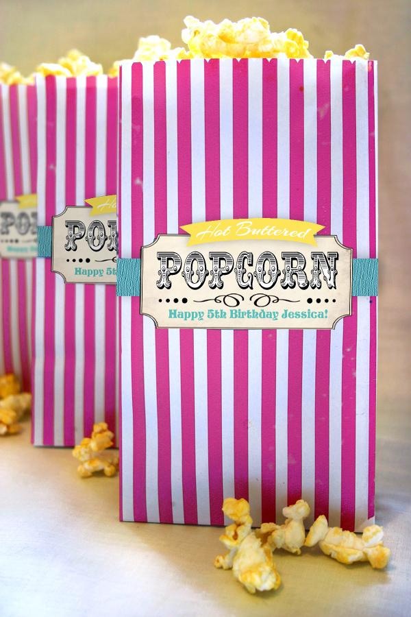Vintage Circus Popcorn Bag Candy