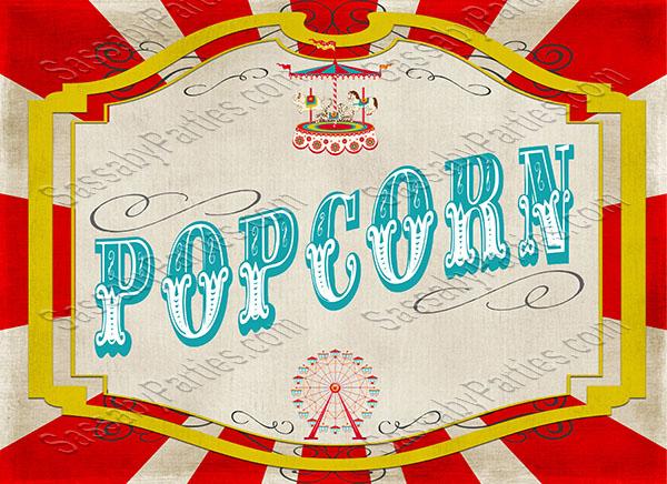 Vintage Carnival Game Signs