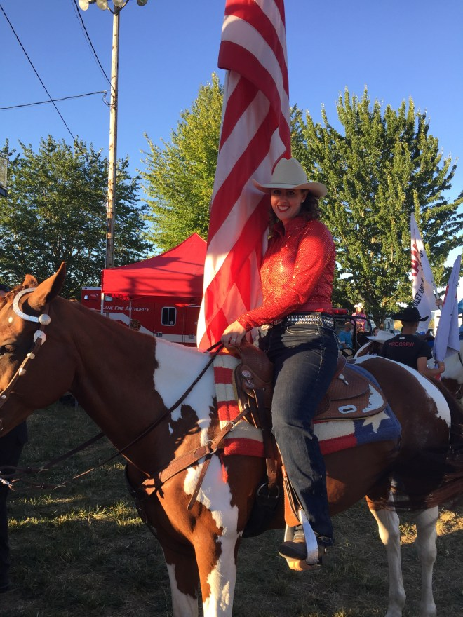 Carrying The Flag at The Rodeo