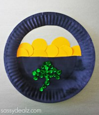 Paper Plate Pot of Gold Craft For St. Patrick's Day ...