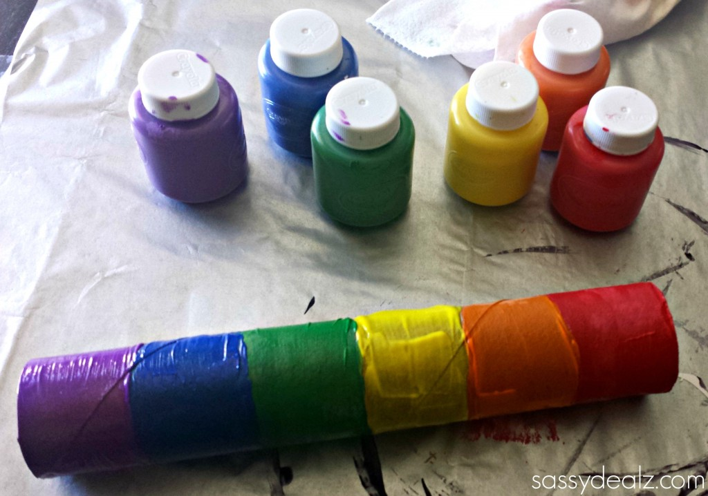 Rainbow Paper Towel Wind Catcher Craft For Kids Crafty