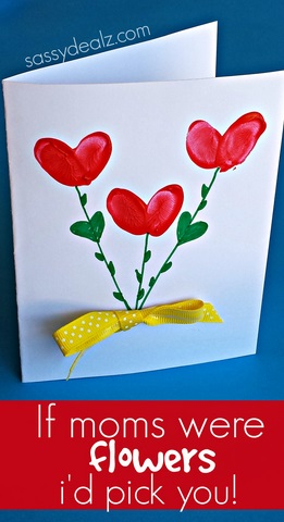 Fingerprint Flower Mother\u0027s Day Card - Crafty Morning - mother s day cards