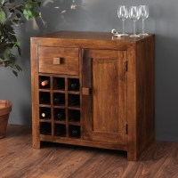 Solid Mango Wood Wine Cabinet | 12 Bottle Wine Rack | Casa ...