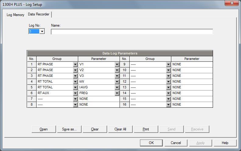 Low Budget Power Quality - Application Note SATEC - budget log