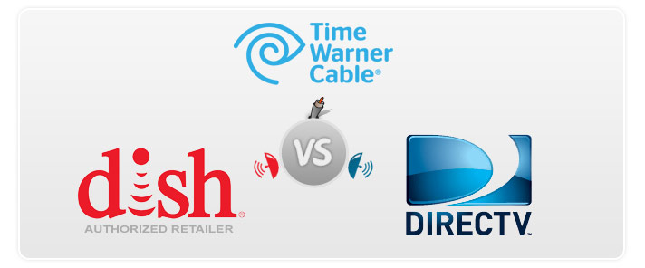 Compare Time Warner Cable vs DIRECTV and DISH