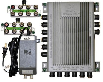 SWM-16 Multiswitch With Power Inserter - 2 8-Way SWM Spliters