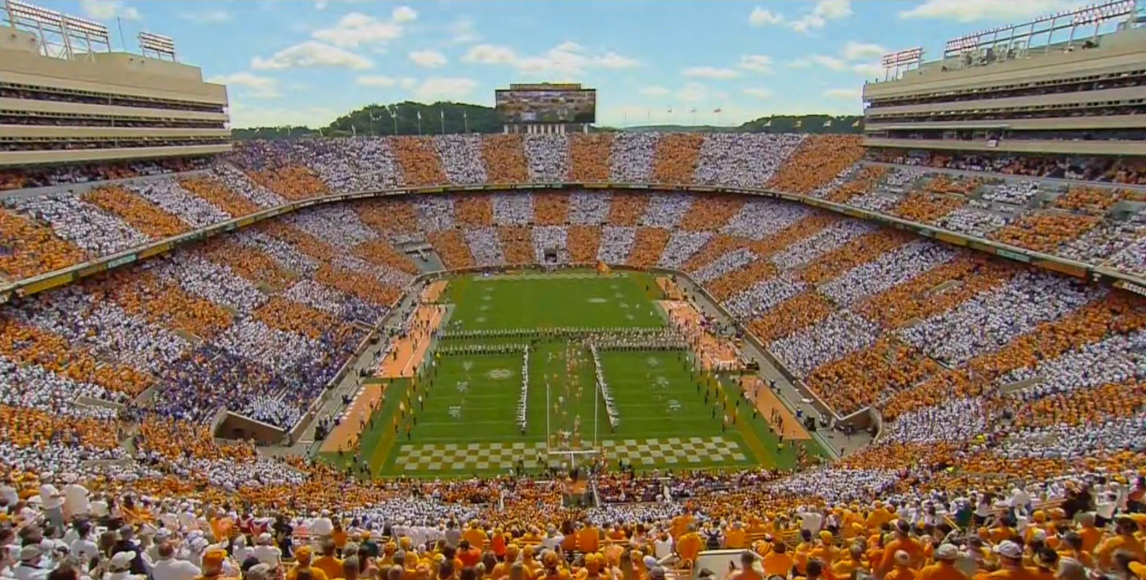Unc Hd Wallpaper Tennessee Fans Successfully Checker Neyland Stadium