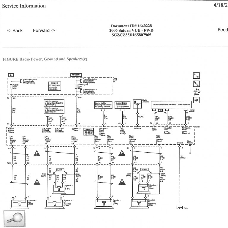 2001 Saturn Sl1 Radio Wiring Diagram Electronic Schematics collections