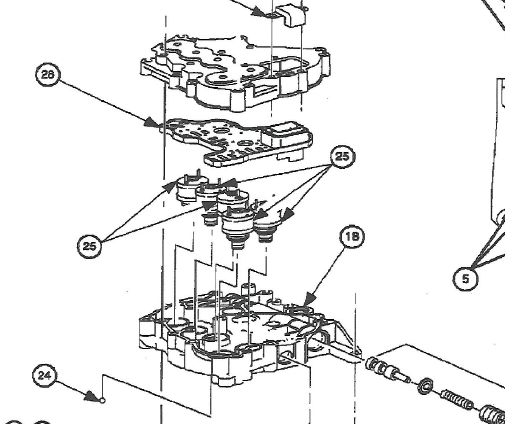 Transmission Pressure Control Solenoid replacement (\u002799 SL1 A/T