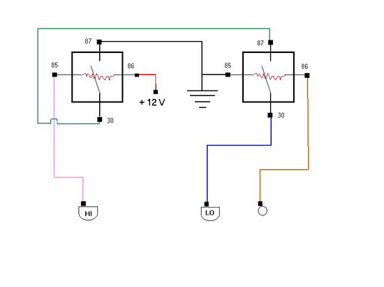 HI-LO Relay wiring diagram - SaturnFans Photo Forums