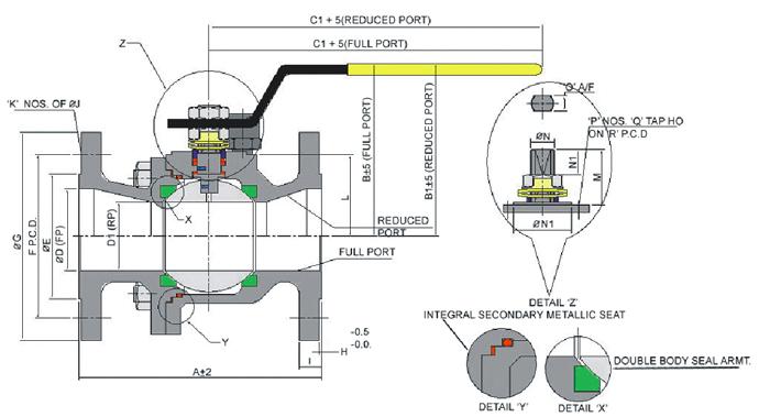 globe valve diagram with cap