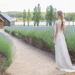 Jasmine Back on Path to Barn Sault Gwendolynne Wedding Dress Low Res