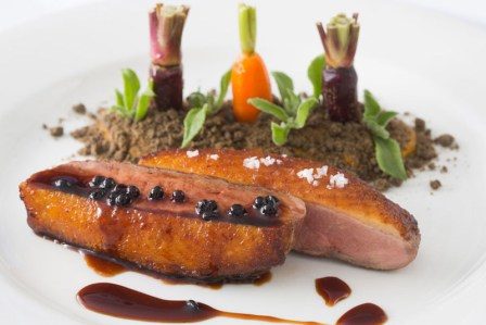 Free-range roasted duck breast