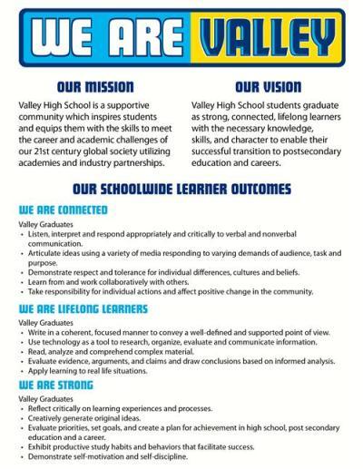 Vision & Mission Statement & SLOs / VHS Mission & Vision