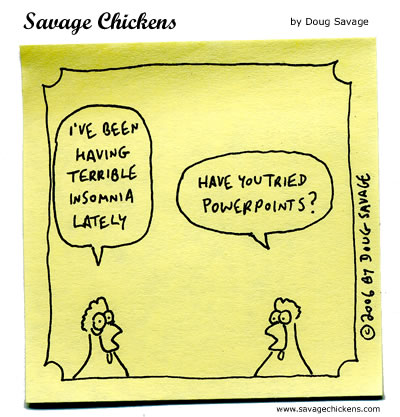 Presentation Cartoons Savage Chickens - Cartoons on Sticky Notes
