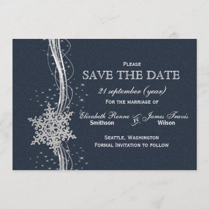 Blue Christmas Wedding Save The Date Cards \u2013 Save the Date Cards