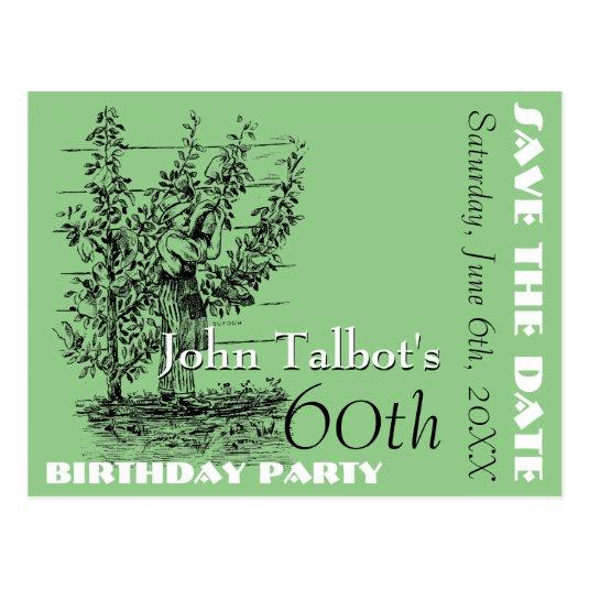 The gardener 60th birthday Party \u2013 Save the Date Cards