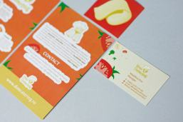 Don Cruton Branding visit card menus food stickers illustration