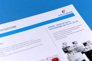 romger presentation catalogue open fold