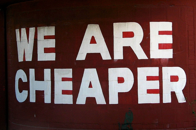 we are cheaper