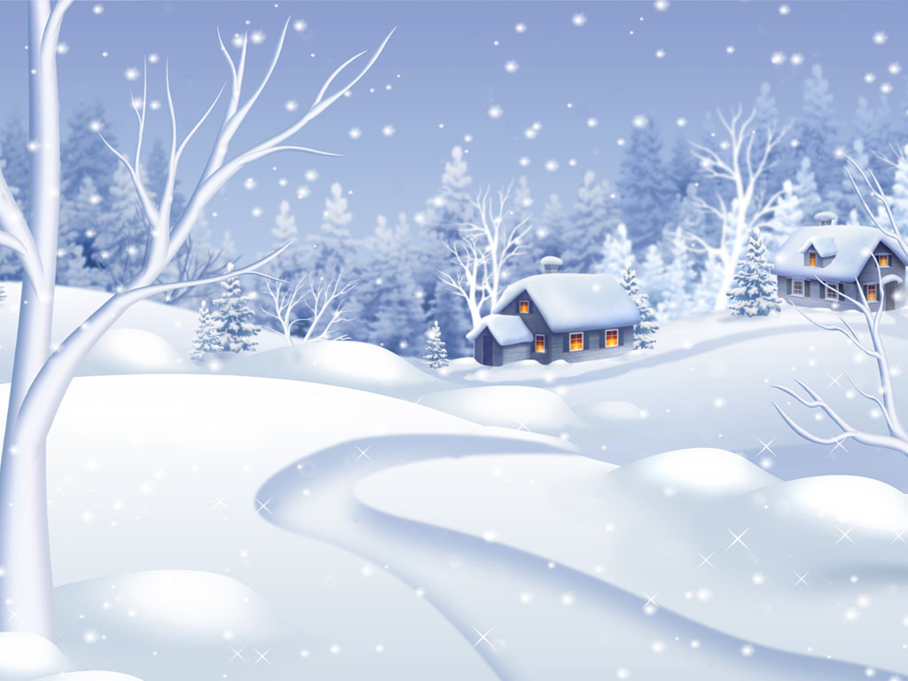 Snow Village 3d Live Wallpaper And Screensaver Morning Snowfall Snowfall Screensaver Saversplanet Com