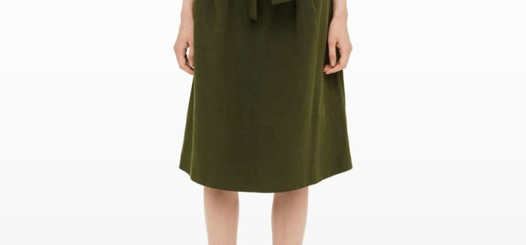 club-monaco-dilys-army-surplus-green-high-waisted-belted-skirt
