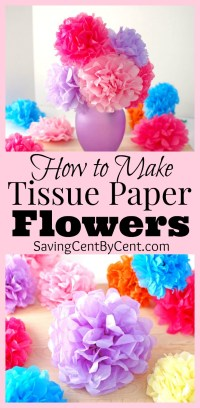 How to Make Tissue Paper Flowers Video Tutorial - Saving ...