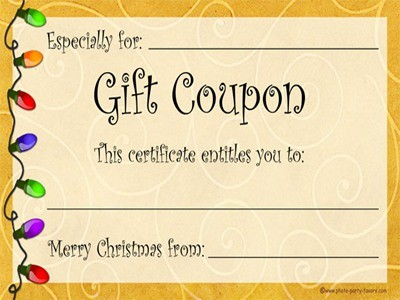 Printable gift coupon templates free  Ebay deals ph - gift coupons template