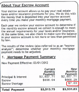 escrow mortgage payment