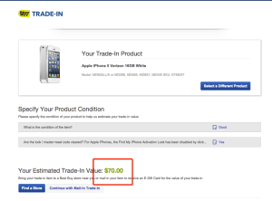 Best Buy iPhone Trade-in