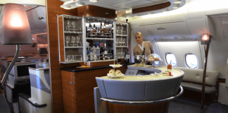 First-class suites offer incredible in-flight luxury