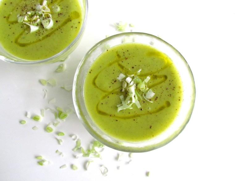 soupe de courgettes et poireaux