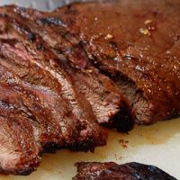 Marinated and Broiled Flat Iron Steak