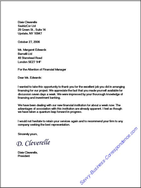 Dixie\u0027s Full Block Business Letter