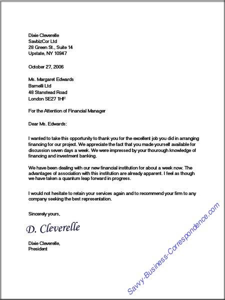 Dixie\u0027s Full Block Business Letter