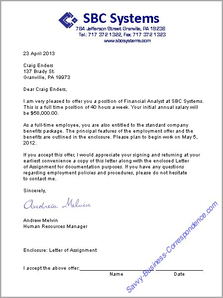 The Offer Letter Loan How It Works Blown Mortgage Business Letters Employment