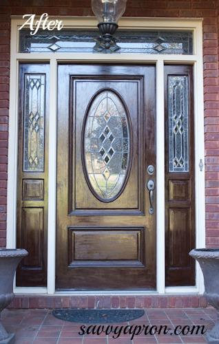 Gel Stained Front Door